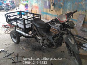 modifikasi gerobak motor bebek